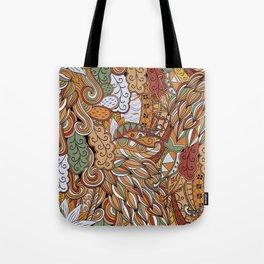 Stylized Boho Bulb Pattern Tote Bag