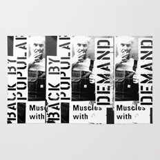 Muscles on Demand (B&W) Rug
