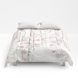 pink cherry blossom Comforters