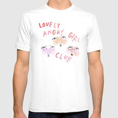 Lovely angry girl club Mens Fitted Tee White LARGE