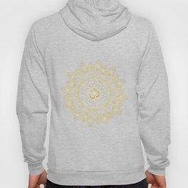 Om Symbol and Mandala in Spiritual Gold Purple Blue Violet Hoody