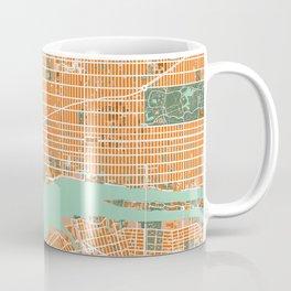 New York city map orange Coffee Mug