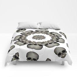 Creepy Human Skull Mandala Comforters