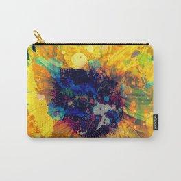 Sunflower Batik Carry-All Pouch