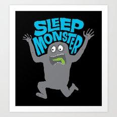 Sleep Monster Art Print