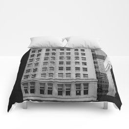 Chicago Downtown Skyscrapers Monochrome Comforters