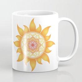 Warm Mandala Sun Coffee Mug