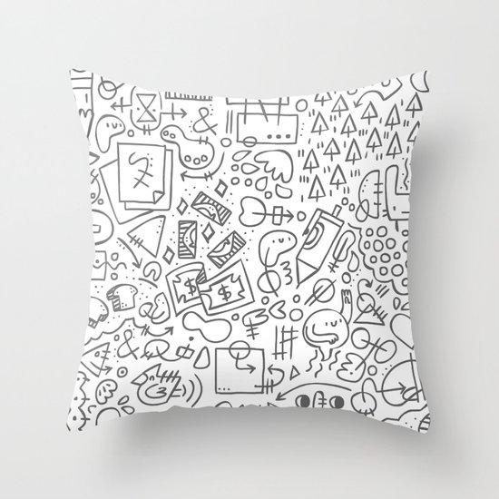 Doodle Do Throw Pillow