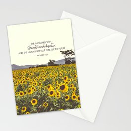 Proverbs and Sunflowers Stationery Cards