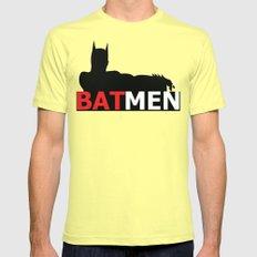 Bat Men SMALL Lemon Mens Fitted Tee