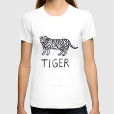 Tiger Womens Fitted Tee MEDIUM White