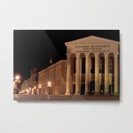 Night shot of national theatre in Subotica, Serbia Metal Print