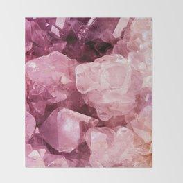 Crystal Rose Throw Blanket