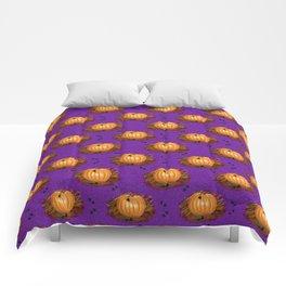 Pumpkins in a Purple Patch Comforters