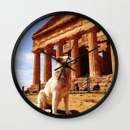 Majestic Dog for a Majestic View Wall Clock