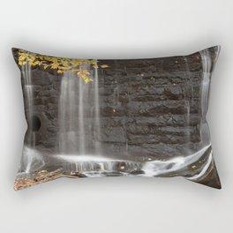 Rock Wall Autumn Falls Rectangular Pillow