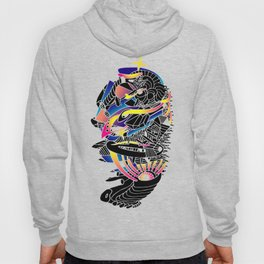 80's abstract micro space Hoody