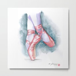ballet shoes Metal Print