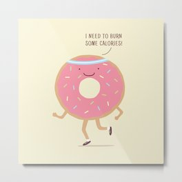 The Donut workout Metal Print