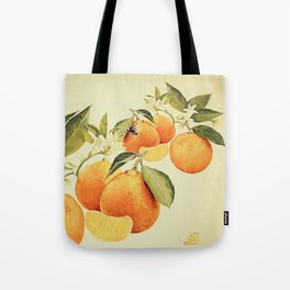 Oranges and their blossoms Tote Bag