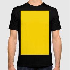 (Gold) Mens Fitted Tee Black MEDIUM