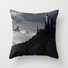 Mystery on the Hill Throw Pillow