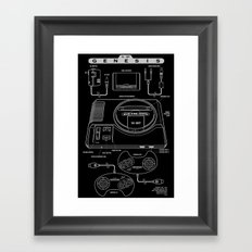 Mega Drive Framed Art Print