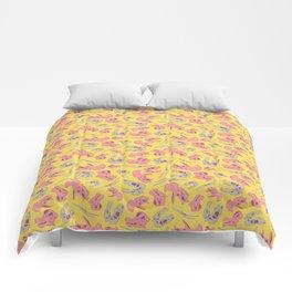 Skull Roll - Yellow & Pink Comforters