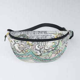 sketch_temple Fanny Pack