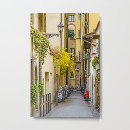 Street of Historic Center of Florence Metal Print