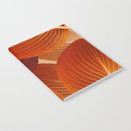 Leaves in Terracotta Color #decor #society6 #buyart Notebook