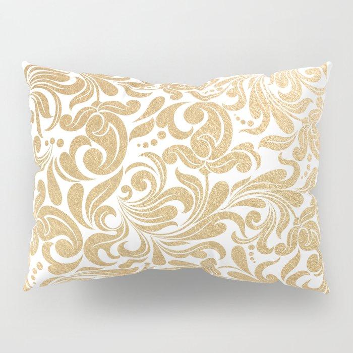 Gold foil swirls damask #13 Pillow Sham