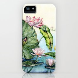 Japanese Water Lilies and Lotus Flowers iPhone Case