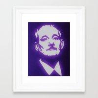bill murray Framed Art Prints featuring Bill Murray by Beastie Toyz