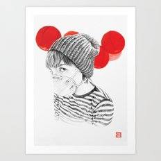 MASK + LANTERNS Art Print