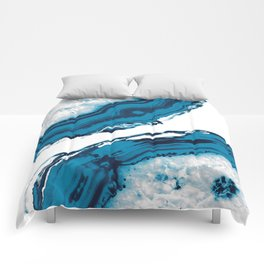 Blue Agate #2 #gem #decor #art #society6 Comforters