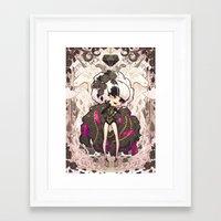 barachan Framed Art Prints featuring shine by barachan