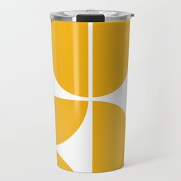Mid Century Modern Yellow Square Travel Mug