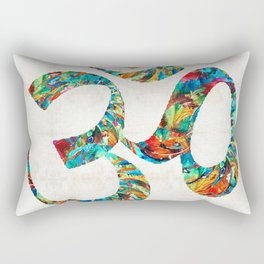 Colorful Om Symbol - Sharon Cummings Rectangular Pillow