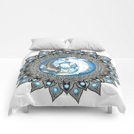 Yin and Yang Butterfly Koi Fish Mandala Comforters