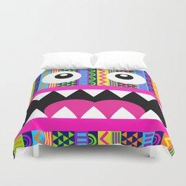 Aztec Pattern Crazy Face Duvet Cover