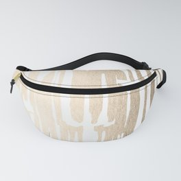White Gold Sands Bamboo Stripes Fanny Pack
