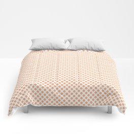 Peach Cobbler Polka Dots Comforters
