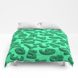Green number in 3D Comforters