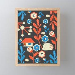 Woodland kitty home Framed Mini Art Print