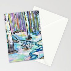 Early Spring in Birch Grove Stationery Cards