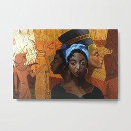 Classical African American Landscape 'Secret History of the Black Race' by Lois Jones Metal Print