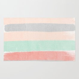 Stripes hand painted abstract minimal nursery decor gender neutral palette Rug