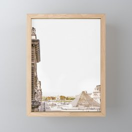Paris Louvre Courtyard View Framed Mini Art Print