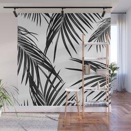 Black Palm Leaves Dream #1 #tropical #decor #art #society6 Wall Mural